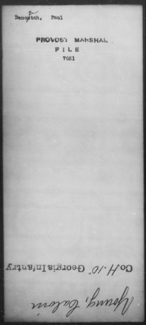 Denovtch, Paul - State: [Blank] - Year: [Blank]