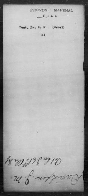 Deut, S W - State: [Blank] - Year: [Blank]