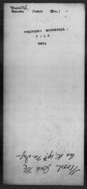 Deutch, Joseph - State: [Blank] - Year: [Blank]