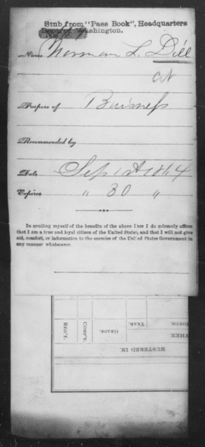 Dill, Norman L - State: [Blank] - Year: 1864