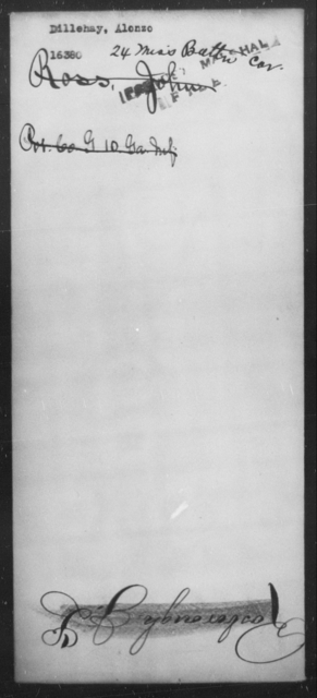 Dillehay, Alonzo - State: Mississippi - Year: [Blank]