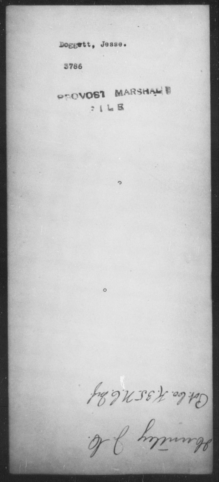 Doggett, Jesse - State: [Blank] - Year: [Blank]