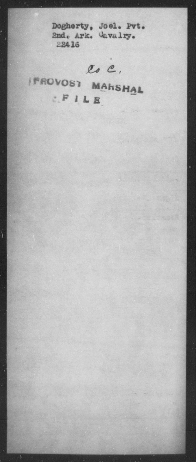Dogherty, Joel - State: Arkansas - Year: [Blank]