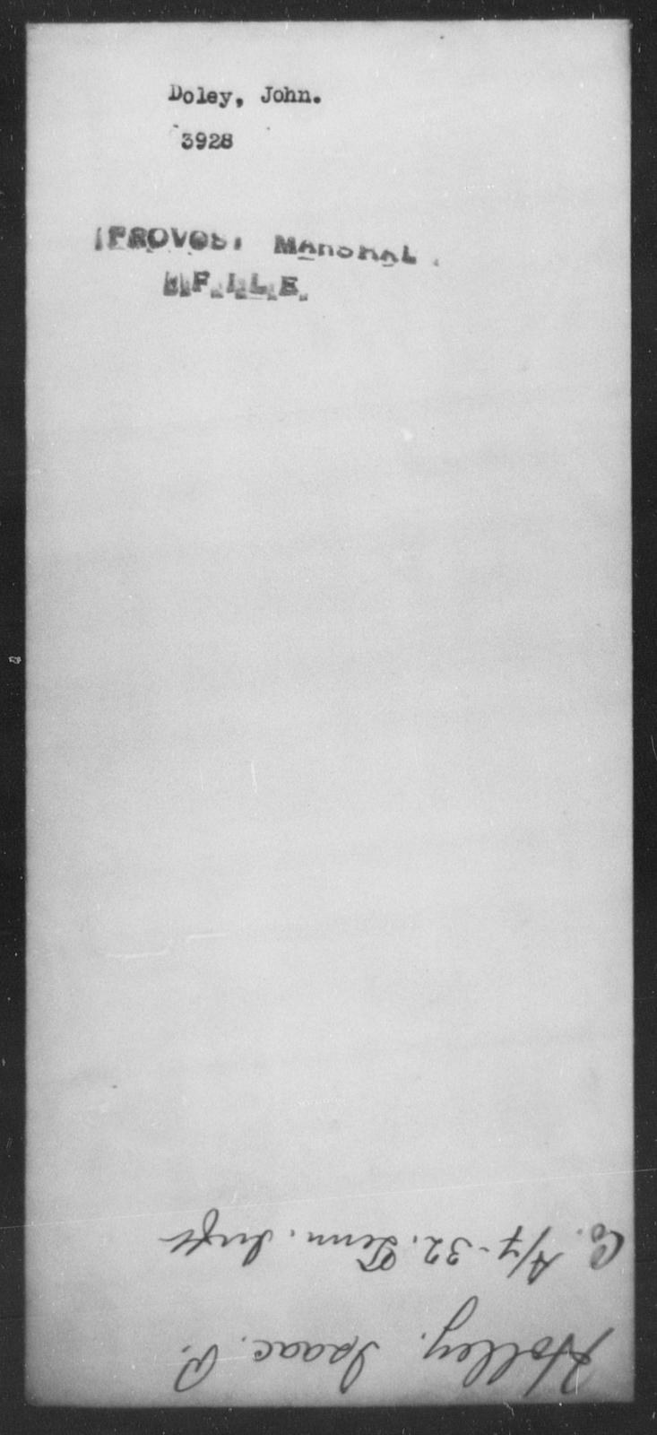 Doley, John - State: [Blank] - Year: [Blank]