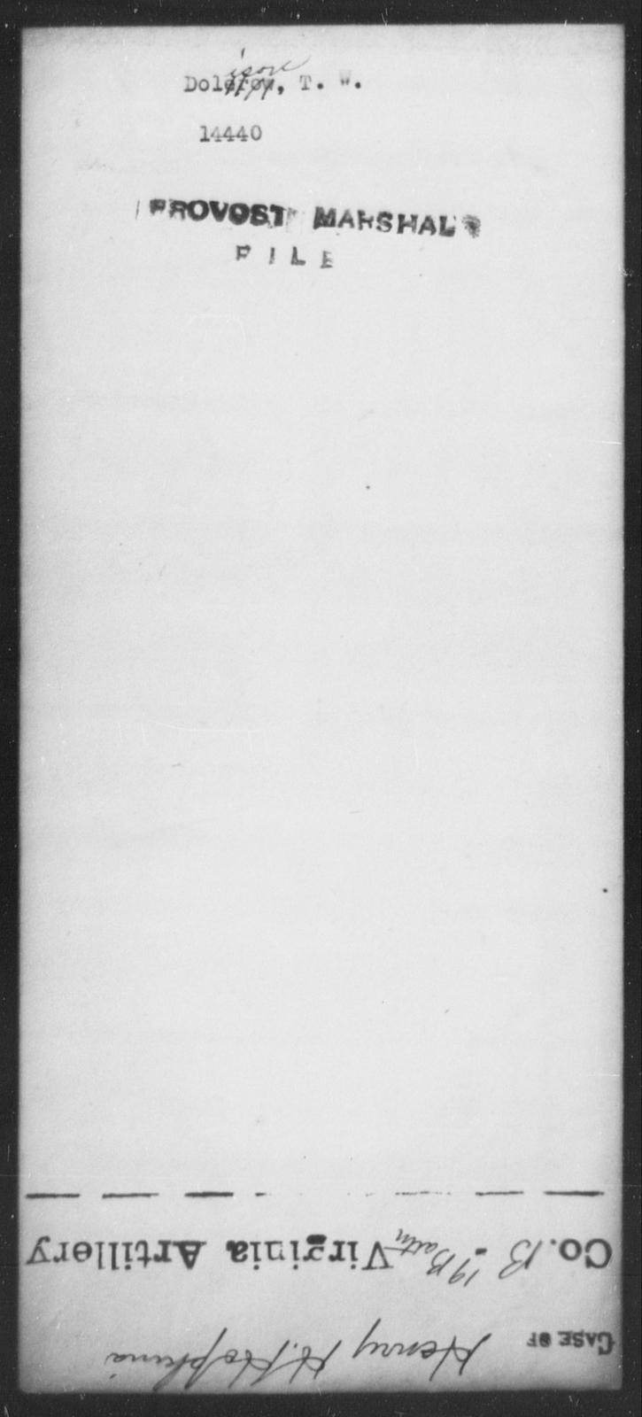 Dolison, T W - State: [Blank] - Year: [Blank]