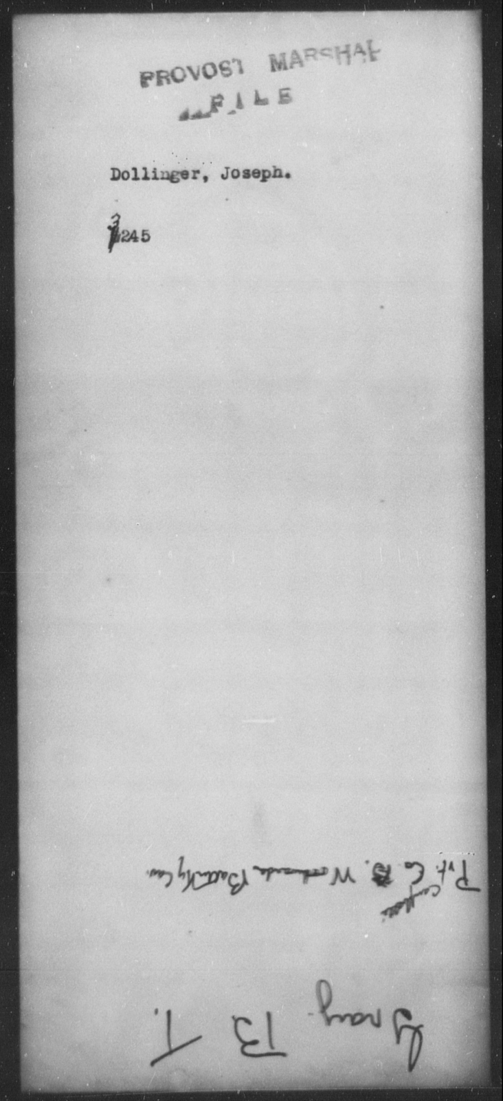 Dollinger, Joseph - State: [Blank] - Year: [Blank]