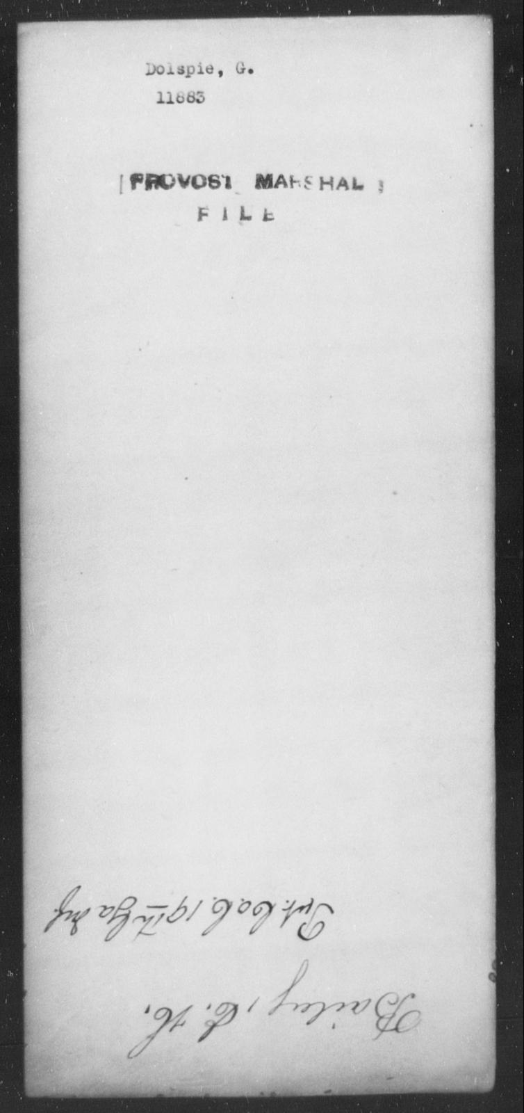Dolspie, G - State: [Blank] - Year: [Blank]