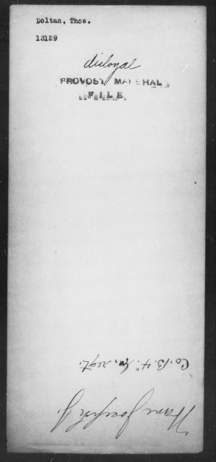 Doltan, Thos - State: [Blank] - Year: [Blank]