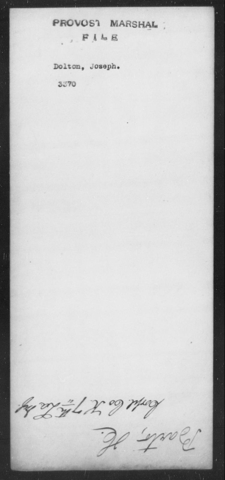 Dolton, Joseph - State: [Blank] - Year: [Blank]