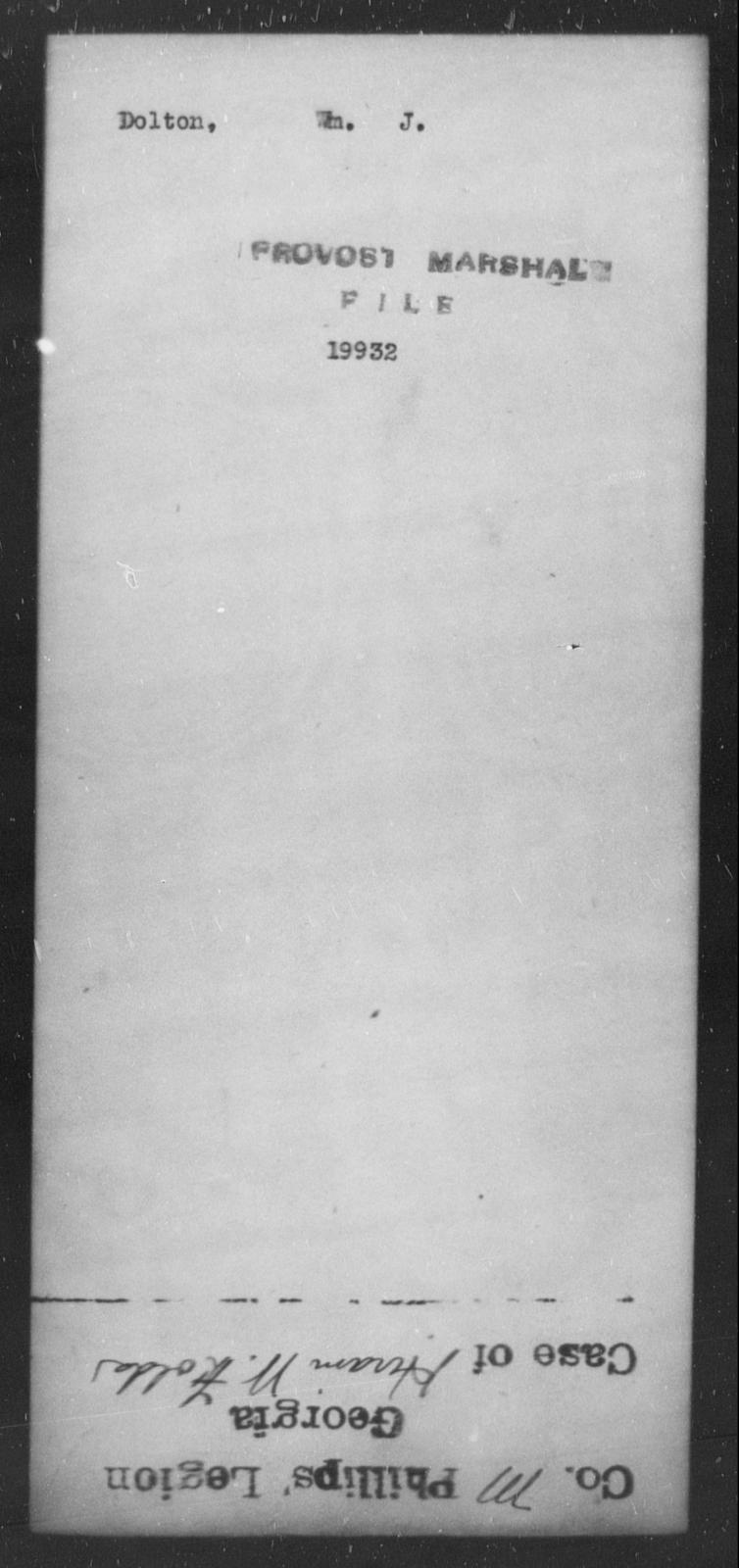 Dolton, Wm J - State: [Blank] - Year: [Blank]