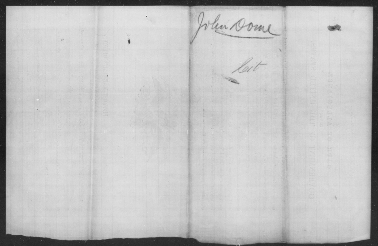 Dome, John - State: [Blank] - Year: 1863