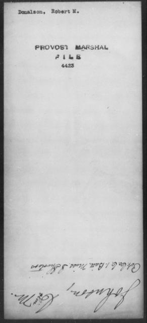Donalon, Robert M - State: [Blank] - Year: [Blank]