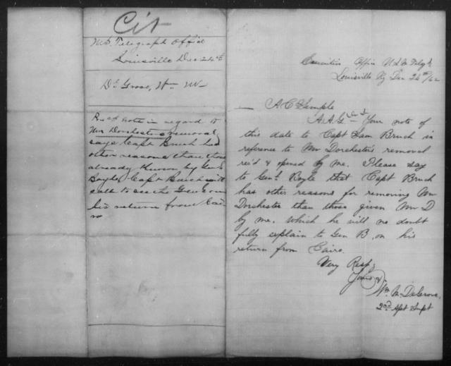 Dorchester, Wm - State: Kentucky - Year: 1862
