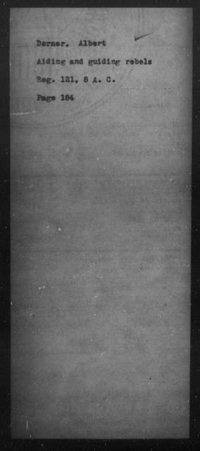 Dorner, Albert - State: [Blank] - Year: [Blank]