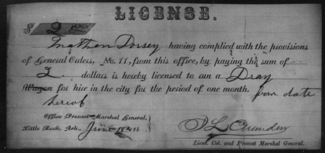 Dorsey, Mathew - State: Arkansas - Year: 1864