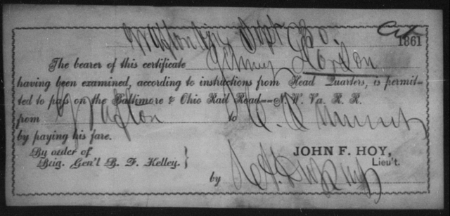 Dorson, James - State: Ohio - Year: 1861