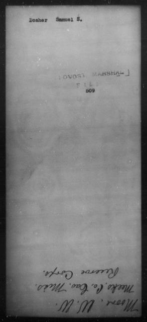 Dosher, Samuel S - State: [Blank] - Year: [Blank]