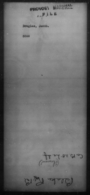 Douglas, Jacob - State: [Blank] - Year: [Blank]