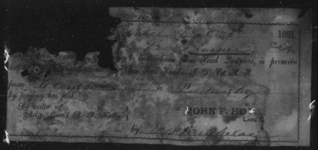 Dovener, N - State: Ohio - Year: 1861