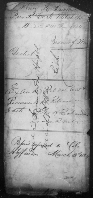 Dowden, Henry H - State: [Blank] - Year: 1864
