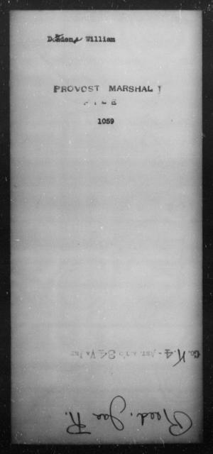 Dowden, William - State: [Blank] - Year: [Blank]