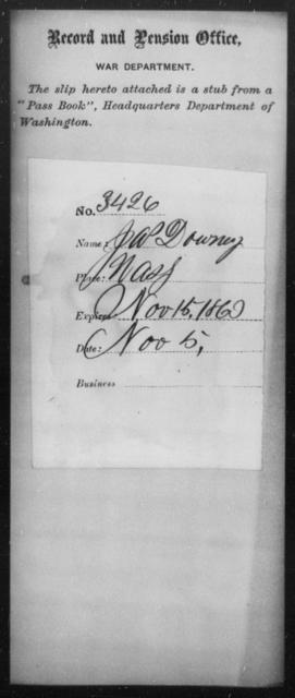 Downey, Jas - State: Washington - Year: 1860