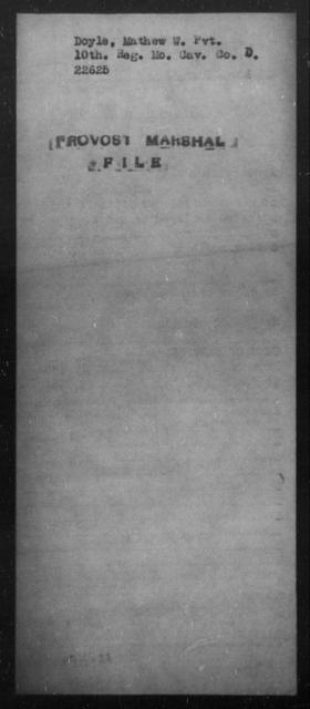 Doyle, Mathew - State: [Blank] - Year: [Blank]