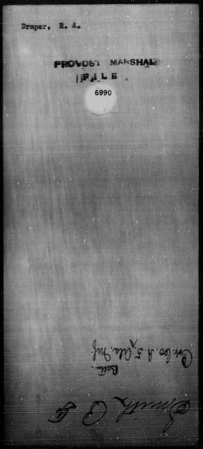 Draper, R A - State: [Blank] - Year: [Blank]