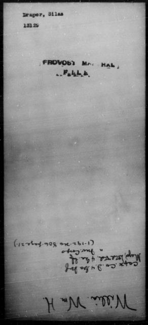 Draper, Silas - State: [Blank] - Year: [Blank]