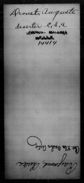 Dronet, Auguste - State: [Blank] - Year: [Blank]
