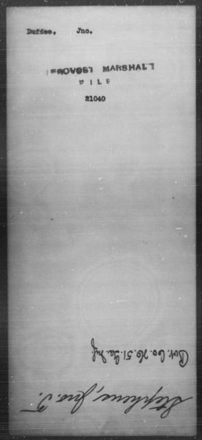 Duffee, Jno - State: [Blank] - Year: [Blank]