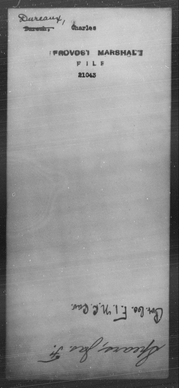 Dureaux, Charles - State: [Blank] - Year: [Blank]