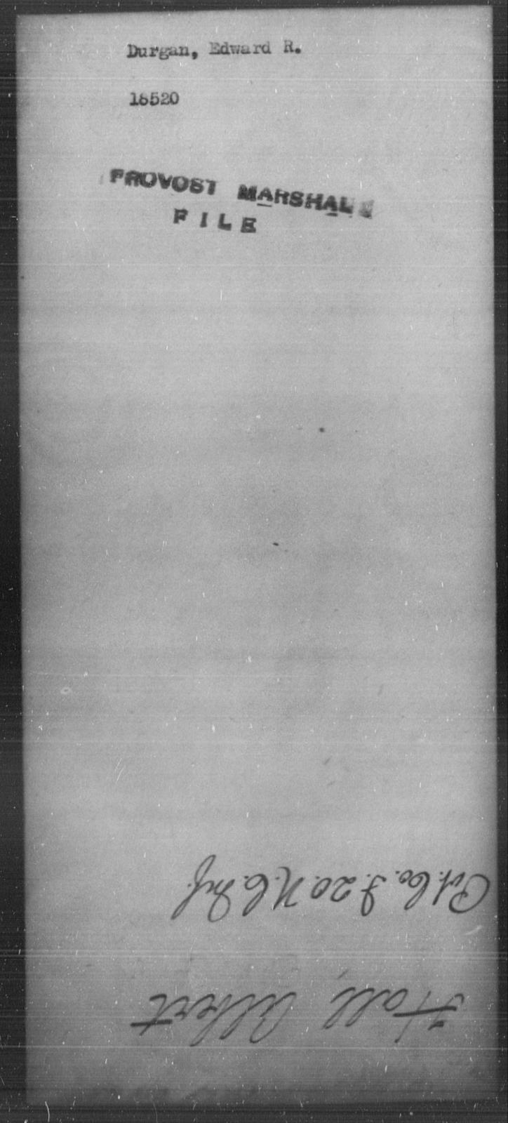 Durgan, Edward R - State: [Blank] - Year: [Blank]