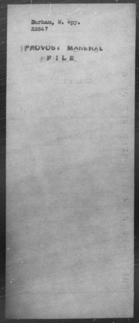 Durham, W Spy - State: [Blank] - Year: [Blank]