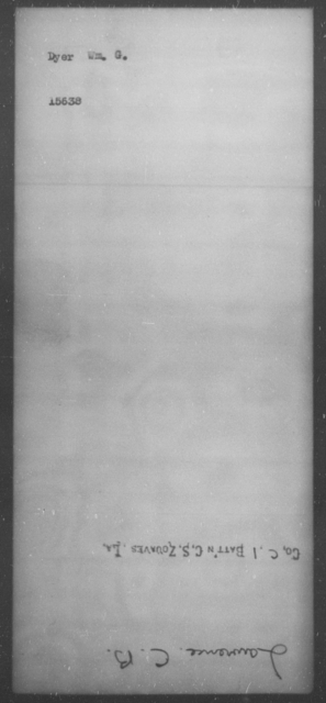 Dyer, Wm G - State: [Blank] - Year: [Blank]