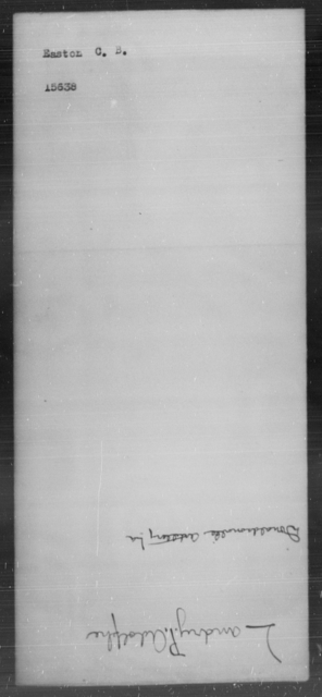 Easton, C B - State: [Blank] - Year: [Blank]