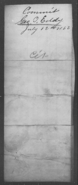 Eddy, Geo B - State: [Blank] - Year: 1862