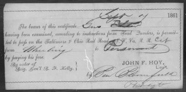 Edeler, Gus - State: Ohio - Year: 1861