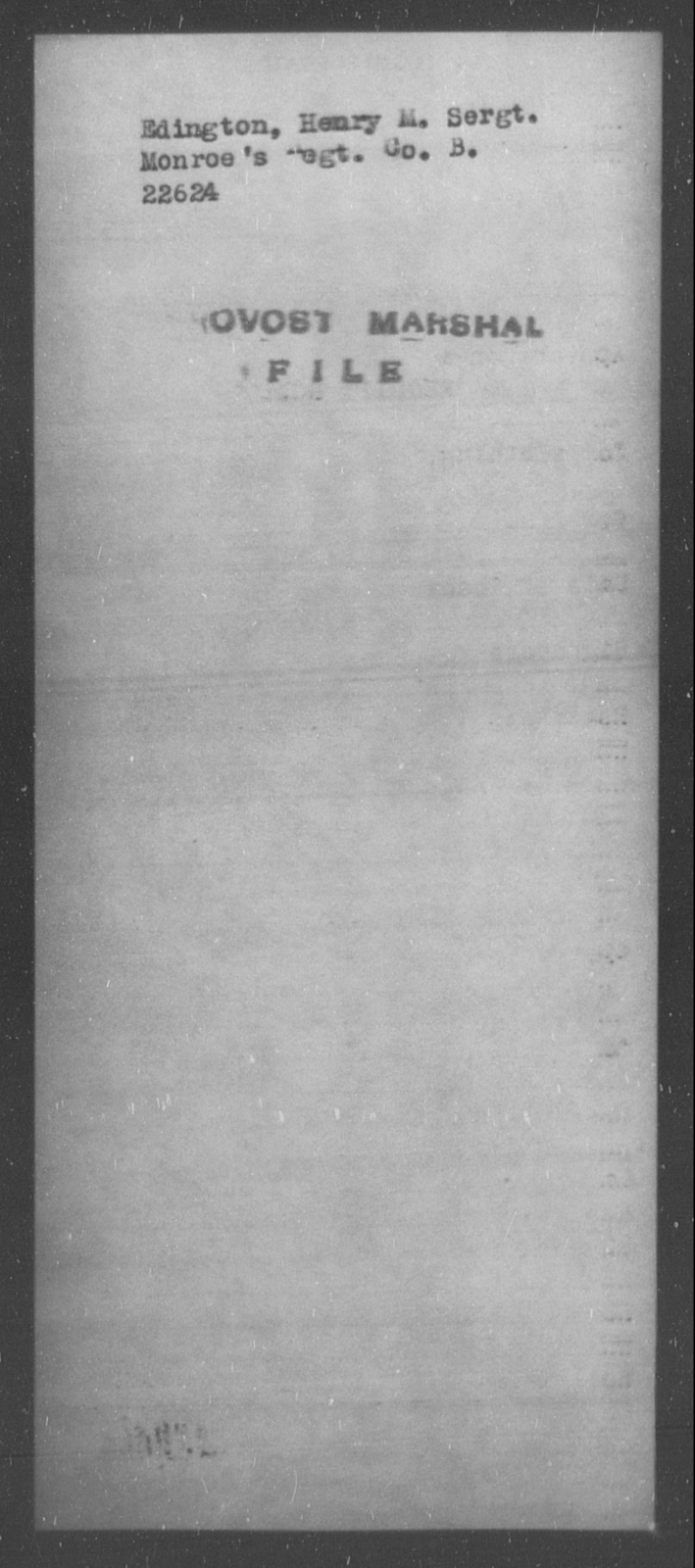 Edington, Henry M - State: [Blank] - Year: [Blank]