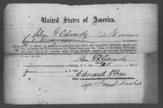 Edwards, John G - State: North Carolina - Year: 1863