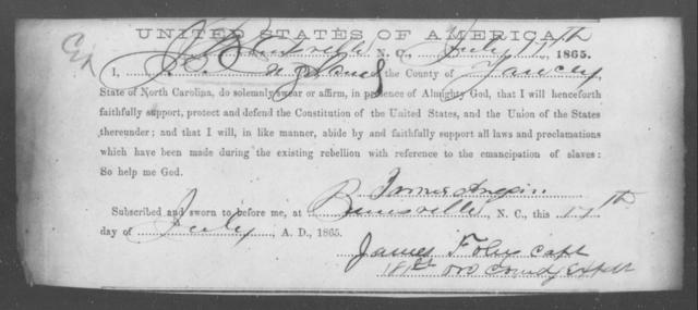 England, John - State: North Carolina - Year: 1865