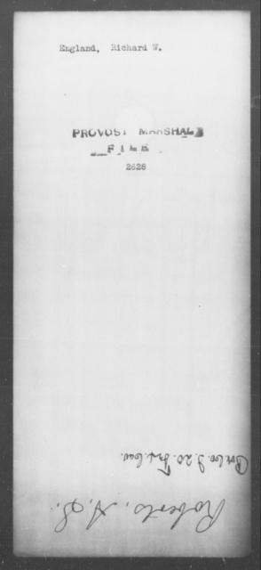 England, Richard W - State: [Blank] - Year: [Blank]