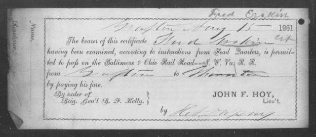 Erskin, Hud - State: Ohio - Year: 1861