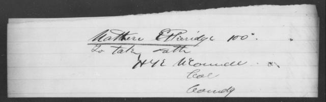 Etheridge, Mathew - State: [Blank] - Year: [Blank]