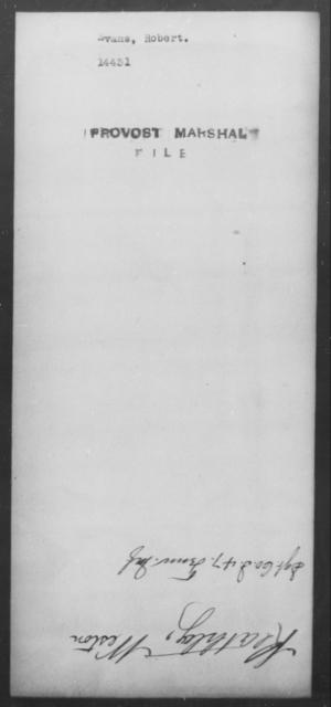 Evans, Robert - State: [Blank] - Year: [Blank]