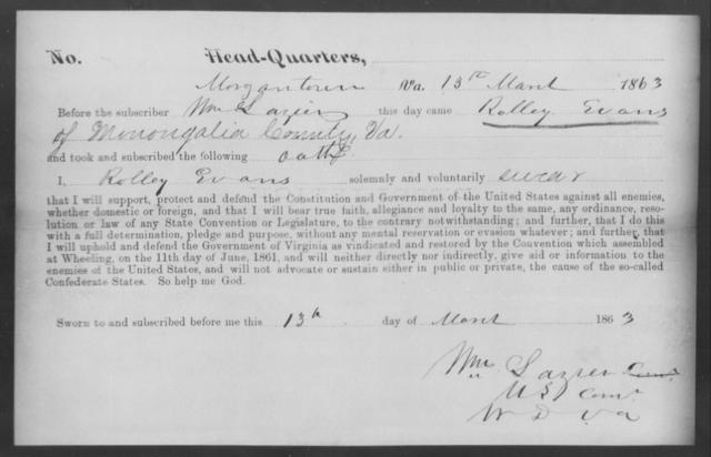 Evans, Rolley - State: Virginia - Year: 1863