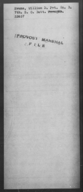 Evans, William D - State: South Carolina - Year: [Blank]