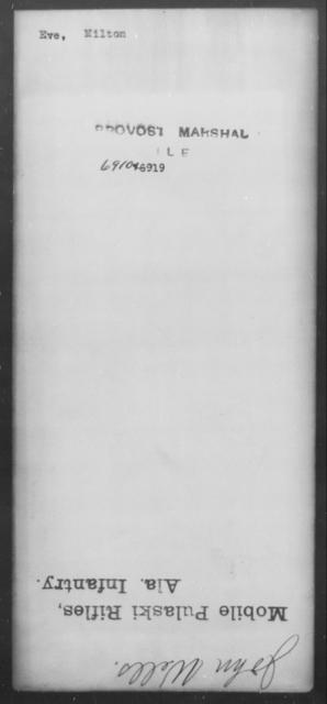 Eve, Milton - State: [Blank] - Year: [Blank]