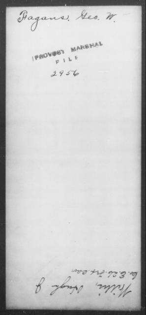 Fagans, Geo W - State: [Blank] - Year: [Blank]