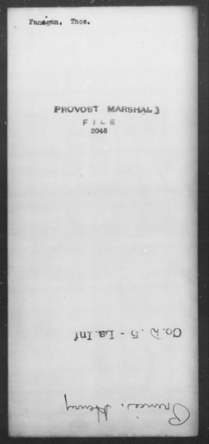 Fangan, Thos - State: [Blank] - Year: [Blank]